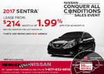 Save on the 2017 Nissan Sentra at Rendez-Vous Nissan!