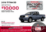Lease the 2016 Nissan Titan XD!