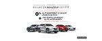 Profitez de l'Événement Roulez en Mazda cet Été