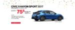 Civic à hayon 2017