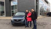 Félicitations Monsieur Lavrov et Mme Boucher pour votre Mazda CX5