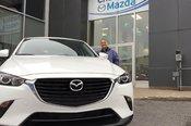 Félicitations Mme Lemay pour votre nouvelle acquisition Mazda CX-3