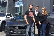 Félicitations Mme Buisson pour votre nouvelle Mazda 3GS