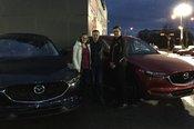 Félicitations à M. Frédéric Huot et Madame Josée Bélanger pour leurs 2 nouvelles Mazda CX5 2017