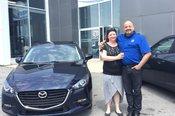 Félicitations Madame Fleury pour l'achat de votre nouvelle Mazda 2017