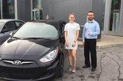 Félicitations à Mlle Alexia Larocque pour sa nouvelle voiture et merci de votre confiance en Chambly Mazda