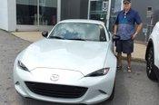 Félicitations Monsieur Théberge pour votre nouvelle Mazda MX5 2017