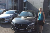 Félicitations Madame Casgrain pour l'achat de votre nouvelle Mazda 3