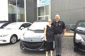 Félicitations Madame Thibault Beauchamp pour l'achat de votre nouvelle Mazda 5 2017
