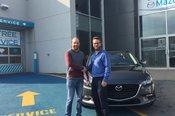 Félicitations Monsieur Castonguay pour votre nouvelle Mazda 3 2017