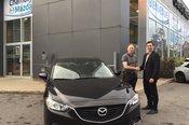Félicitations M. Lacelle pour votre nouvelle Mazda 6 2017.  Bonne route