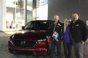 Félicitations M. Melançon et Mme Richard pour votre nouvelle Mazda CX5 2017