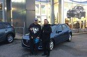 Félicitations Monsieur Telmosse pour votre nouvelle Mazda3 2018
