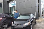 Félicitations à M. Martin Jutras Lavigne pour votre Mazda 2