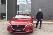 Félicitations à Monsieur Morissette pour votre Mazda 3 2018
