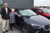 Félicitations à Monsieur et Madame Chartrand pour leur nouvelle Mazda CX3