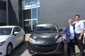 Félicitations à Mme Diane L'éclair pour sa nouvelle Mazda 5