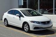 Honda Civic LX  Branchement USB  Bluetooth 2013 Un seul proprietaire Jamais accidentée Sieges chauffants