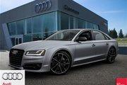 2016 Audi S8 4.0T Plus NWB quattro 8sp Tiptronic Enhanced power and performance