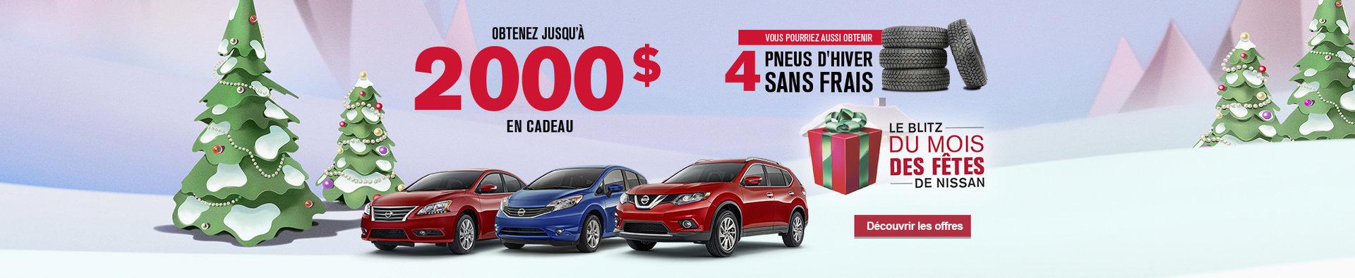 Le Blitz du mois des fêtes de Nissan