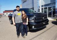 Félicitation à Frédéric Jacques qui réalise son rêve avec l'achat de son nouveau camion un beau Ram 1500 Sport