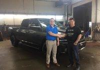 Un gros merci à monsieur Steve Morin de st-Louis-du-HA!-HA! Client fidèle RAM pour l'acquisition de son tout nouveau 1500 sport 2018 allure noir.