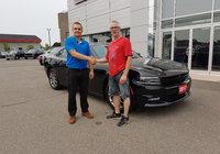 Félicitation à M. Dany Caron pour l'acquisition de son tout nouveau Dodge Charger! Un beau muscle car 4x4 idéale pour le climat québécois. Merci et bonne route.