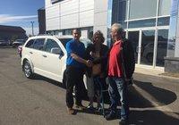 Merci à M. Ghislain Tremblay et sa conjointe pour l'achat de son Dodge Journey AWD, bonne route et félicitation.