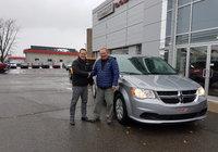 Un gros merci à M. Marc André Gauvin pour sa confiance pour l'achat de sa nouvelle Dodge Grand Caravan.