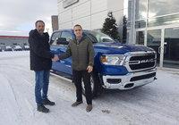 Merci à M. Gino Albert pour l'achat de son Ram 1500 2019 V6 avec la nouvelle technologie E-torque. Félicitation et bonne route !