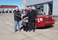Merci à M. et Mme. Julien Robichaux pour l'achat de leur nouveau Jeep Patriot.