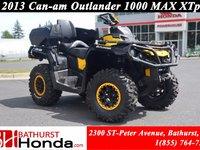2013 Can-Am Outlander 1000 MAX XTp Fox Suspension! Winch! Rear Seat!