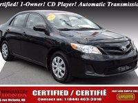 Toyota Corolla CE 2012 Certifié! 1-Proprio! Lecteur CD! Transmission automatique!