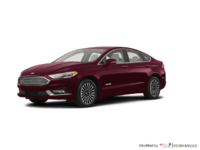 2018 Ford Fusion Hybrid TITANIUM   Photo 3   Burgundy Velvet