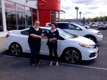 J'ai adoré le service avec Honda, surtout avec Tammy Aubie, très gentille!