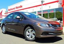 Ceci est ma 4e Honda Civic achetée chez Bathurst Honda et ma 3e achetée de Sylvie! Barbara Mazerolle