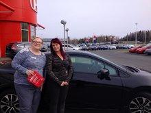 Tammy Aubie m'a offert un service super chez Bathurst Honda! Nancy Guérette