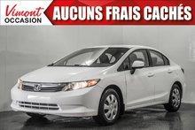 2012 Honda Civic Sdn 2012+LX+A/C+GR ELEC COMPLET
