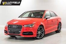 2015 Audi S3 2.0T Technik WOW! Impeccable, venez voir!