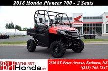 2018 Honda Pioneer 700 2 seats