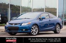 2012 Honda Civic Coupe Si NAVI TOIT BAS KM