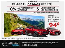 Roulez en Mazda cet été!