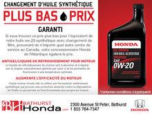 Le plus pas prix sur l'huile synthétique, c'est garanti!