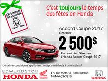 Obtenez la HondaAccord Coupé 2017 aujourd'hui!