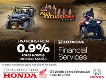 Edmundston Honda's Fall Excursions Event