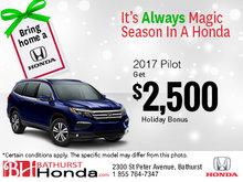 Get the 2017 Honda Pilot Today!
