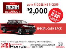 Get the 2017 Ridgeline Today!