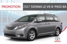 2017 Sienna LE V6 8-Pass 6A