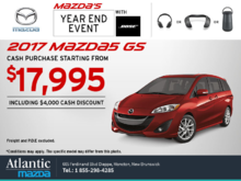 Get the 2017 Mazda5 Today!