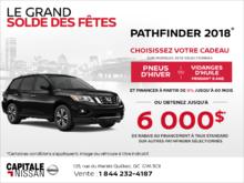 Le Nissan Pathfinder 2018! chez Capitale Nissan